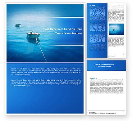 Motor Boats Word Template, 04880, Nature & Environment — PoweredTemplate.com