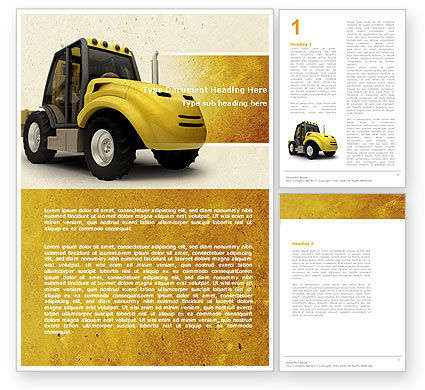 Cars/Transportation: Loader Word Template #04884