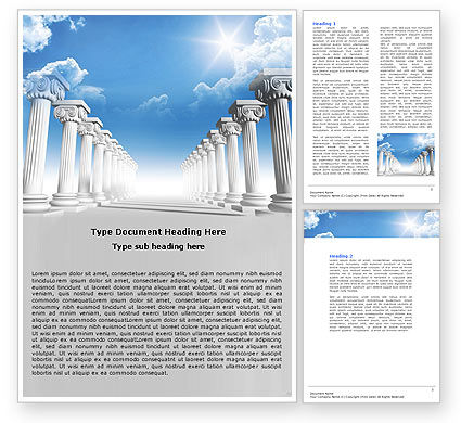 Ionic Columns Word Template, 04887, Careers/Industry — PoweredTemplate.com