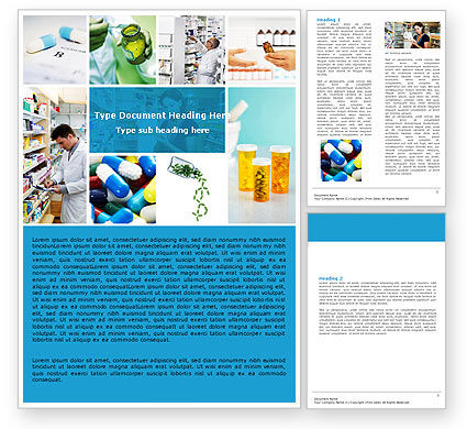 Medical: Pharmacy Collage Word Template #04889