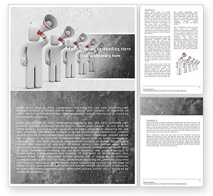 Business Concepts: Megaphone Word Template #04892