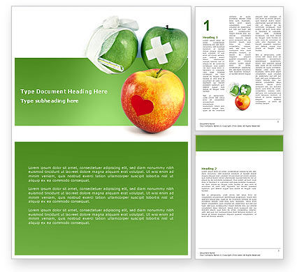 Medical: Vitamine Behandeling Word Template #04895