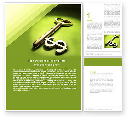 Financial/Accounting: Financial Key Word Template #04896