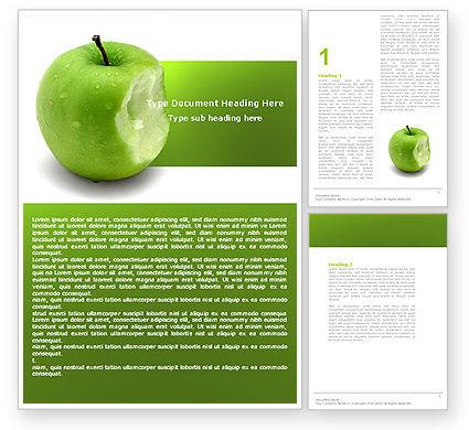 Apple Bite Word Template