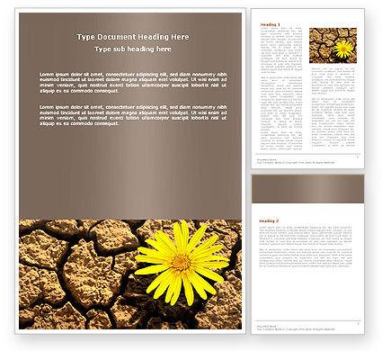 Nature & Environment: Desert Flower Word Template #04901