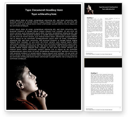 Religious/Spiritual: Prayer Word Template #04902
