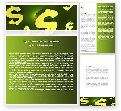 Financial/Accounting: Dollar Exchange Word Template #04906