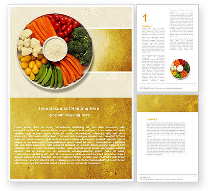 Food & Beverage: Vitamine Voedsel Word Template #04909