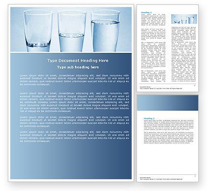 Business Concepts: Glass Half Full Word Template #04919