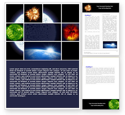 Technology, Science & Computers: Planet Glow Word Template #04921