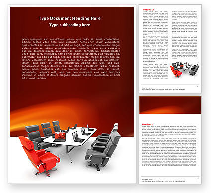 Conference Hall Waiting For Business Meeting Word Template, 04923, Careers/Industry — PoweredTemplate.com