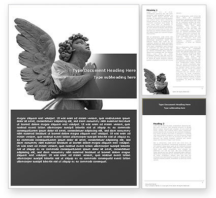 Religious/Spiritual: Angel Word Template #04927
