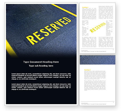 Reserved Word Template, 04929, Business Concepts — PoweredTemplate.com