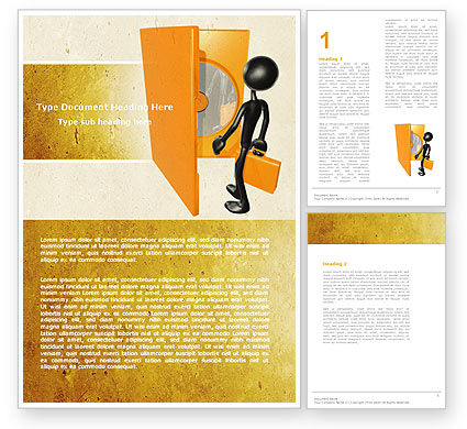 Compact Disk In A Box Word Template, 04931, Careers/Industry — PoweredTemplate.com