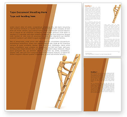 Careers/Industry: Climbing Up On the Ladder Word Template #04935
