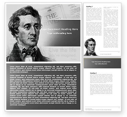People: Henry David Thoreau Word Template #04936