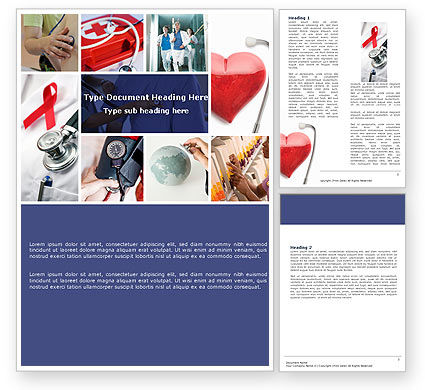 Medical: Medical Care Word Template #04941