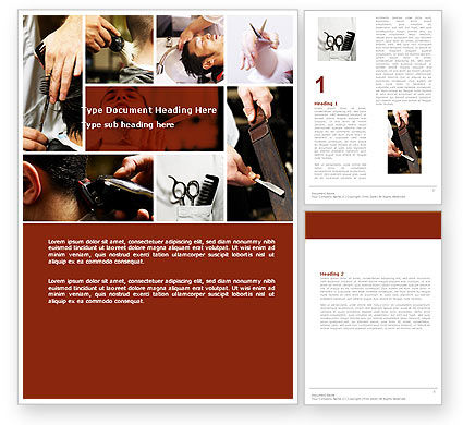 Careers/Industry: Barber Word Template #04945