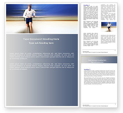 Jogging Word Template, 04950, Sports — PoweredTemplate.com
