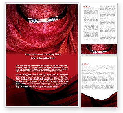 Mystic Beauty Word Template, 04951, Art & Entertainment — PoweredTemplate.com