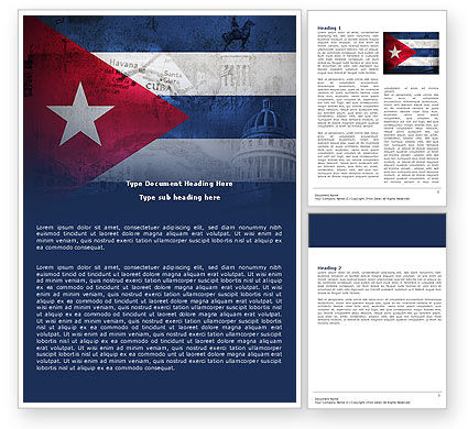 Flags/International: Cuba Word Template #04953
