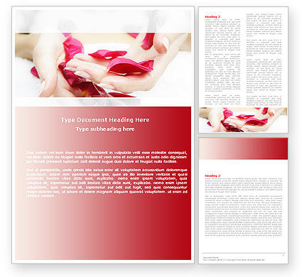 Scent Flower Petals Word Template, 04955, Careers/Industry — PoweredTemplate.com