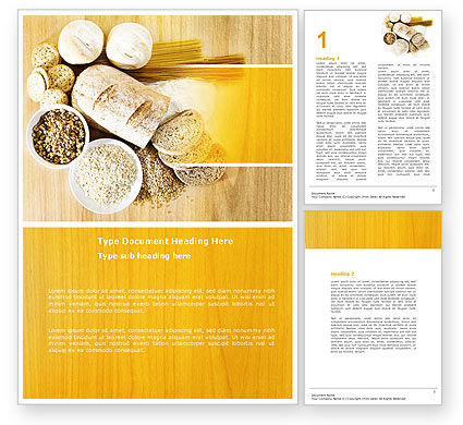 Food & Beverage: Staple Food Word Template #04956