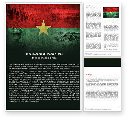 Burkina Faso Word Template, 04958, Flags/International — PoweredTemplate.com