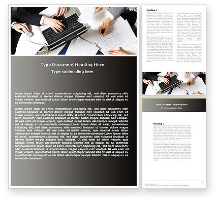 Team Meeting Word Template, 04963, Business — PoweredTemplate.com