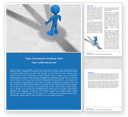 Choosing Way Word Template, 04967, Consulting — PoweredTemplate.com