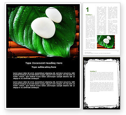 Medical: White Stones Word Template #04975