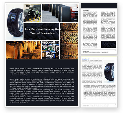 Tire Word Template, 04981, Careers/Industry — PoweredTemplate.com