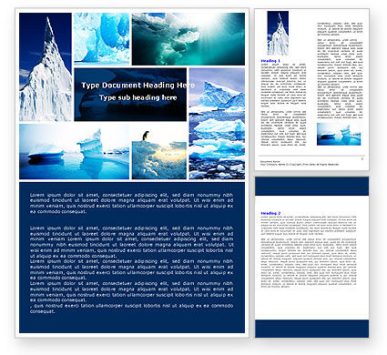 Nature & Environment: Modèle Word de iceberg #04989