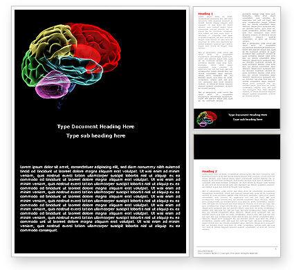 Brain Centers Word Template, 04990, Medical — PoweredTemplate.com