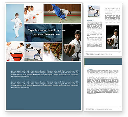 Karate Word Template, 05001, Sports — PoweredTemplate.com