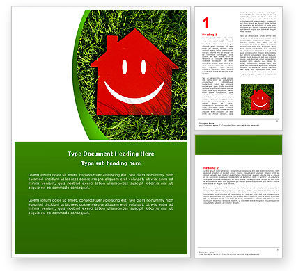 Red Home Word Template, 05003, Financial/Accounting — PoweredTemplate.com