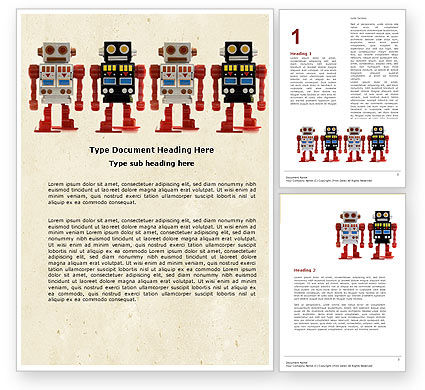 Technology, Science & Computers: Robots Word Template #05005