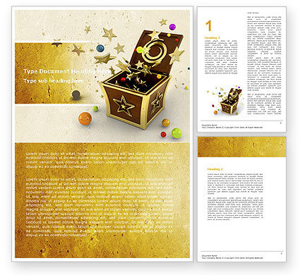 Magic Box Word Template, 05009, Holiday/Special Occasion — PoweredTemplate.com