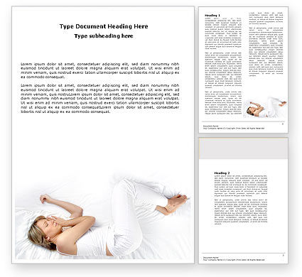 Medical: Bedtime Word Template #05010