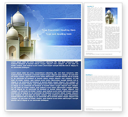 Religious/Spiritual: Islamic Architecture Word Template #05013