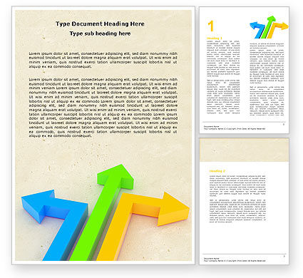 Directions Word Template, 05017, Consulting — PoweredTemplate.com