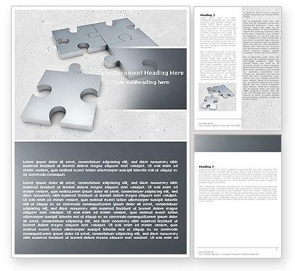 Gray Jigsaw Word Template, 05018, Consulting — PoweredTemplate.com