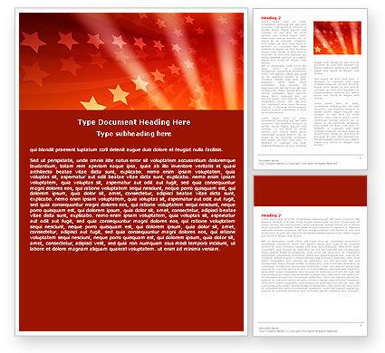 Abstract/Textures: Plantilla de Word - estrellas rojas #05019