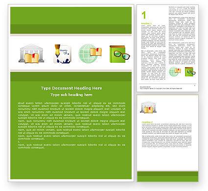 Secondary Education Word Template, 05024, Education & Training — PoweredTemplate.com