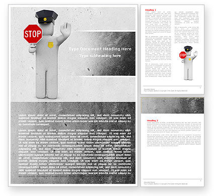 Traffic Police Word Template, 05026, Careers/Industry — PoweredTemplate.com