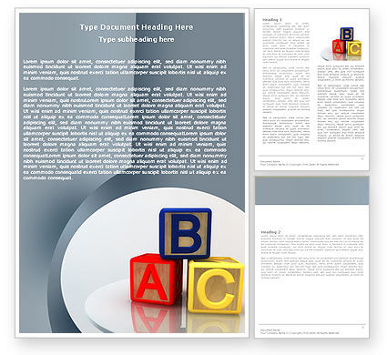 Education & Training: Basics Word Template #05031