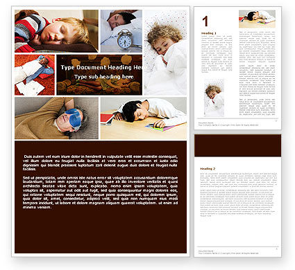 Medical: Sleep Word Template #05036