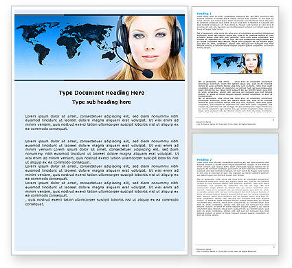 Communication Service Word Template, 05039, Telecommunication — PoweredTemplate.com