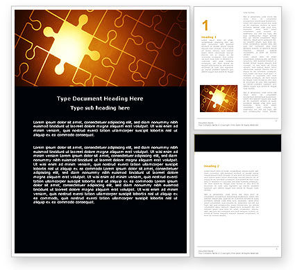 Business Concepts: Missing Puzzle Word Template #05042