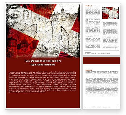 Denmark Word Template, 05046, Flags/International — PoweredTemplate.com